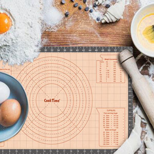 silicone pastry mat with measurement,dough rolling mat