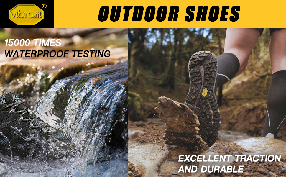 Wantdo Waterproof Hiking shoes Vibram Outsole