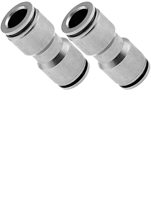 PTC Union//Joint Straight Pneumatic Fitting for 1//4 OD Hoses Bundle of Two Fittings VXA8214-2 Vixen Air Push to Connect