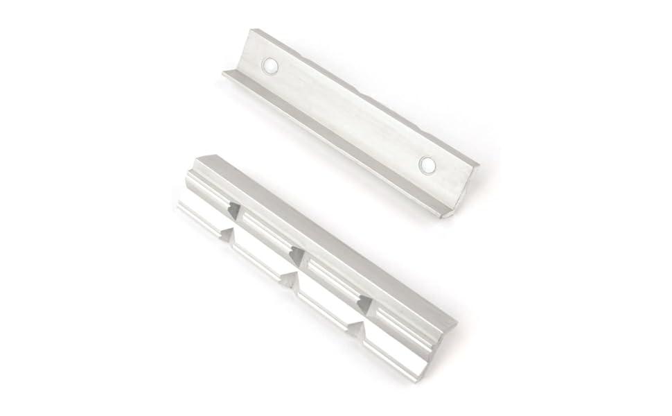 Schraubstock-Schutzbacken Schraubstock-Schutzbacken mit Magnet BGS 3044 mit Magnet 2-tlg 2-tlg Aluminium Alu /& 3046 Kunststoff Schonbacken Breite 125 mm Breite 125 mm