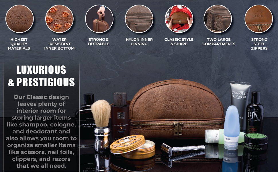 wash bag mens shaving kit