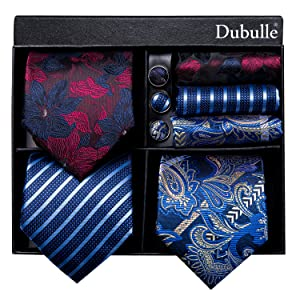 lapel pin tie set with gift box