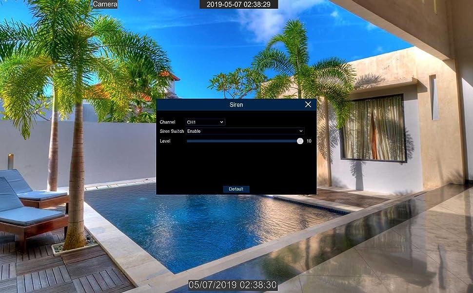 spotlight 4k security camera siren