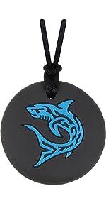 Boys shark sensory chew necklace
