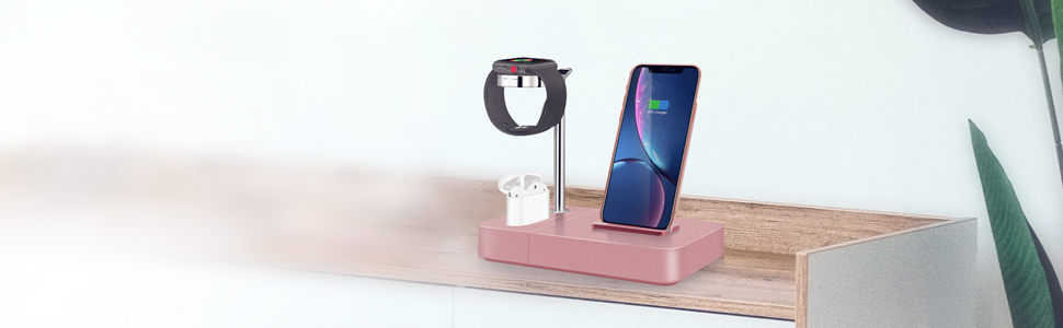 Wireless Charger Stand Rose Gold