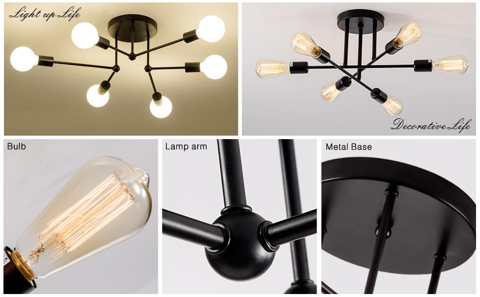 semi flush mount ceiling lighting