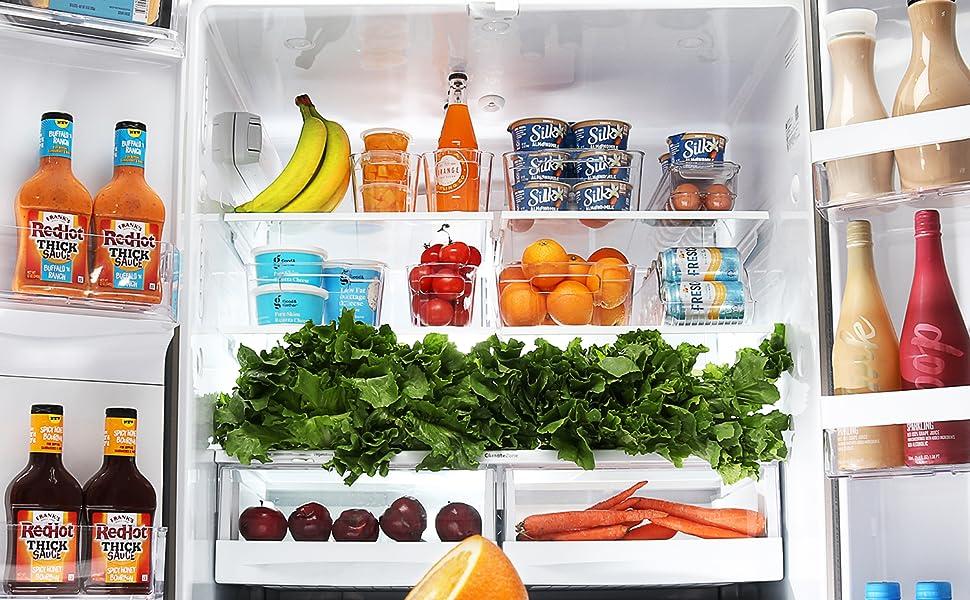 Fridge Organizer Refrigerator Organizer Bins Clear Pantry Bins Refrigerator Organizer Fridge Bins