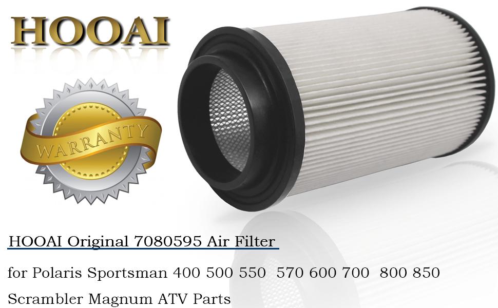 Air Filter For Polaris Sportsman Scrambler Magnum ATV OEM # 7080595 Spark Plug