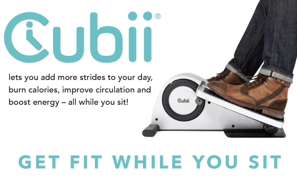 Cubii lets you add more strides to your day, burn calories, and boost energy - all while you sit!