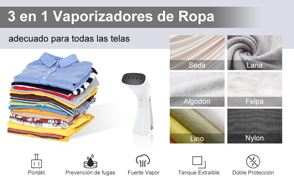 Plancha de Vapor Horizontal & Vertical & Seco 3 en 1, Plancha Ropa ...