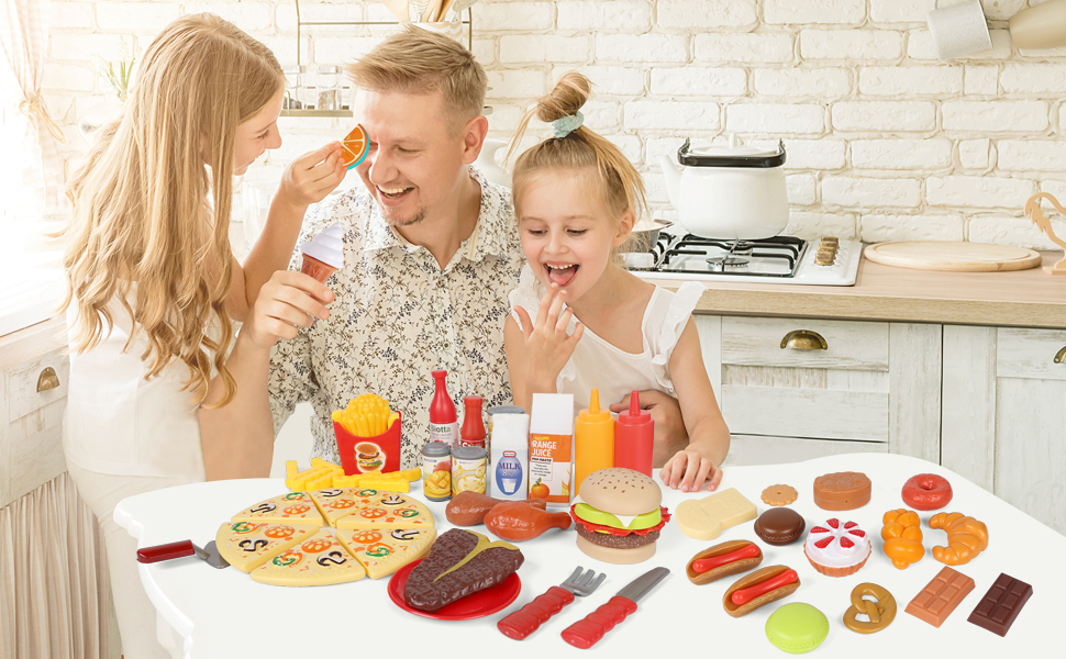 Play food for kids kitchen
