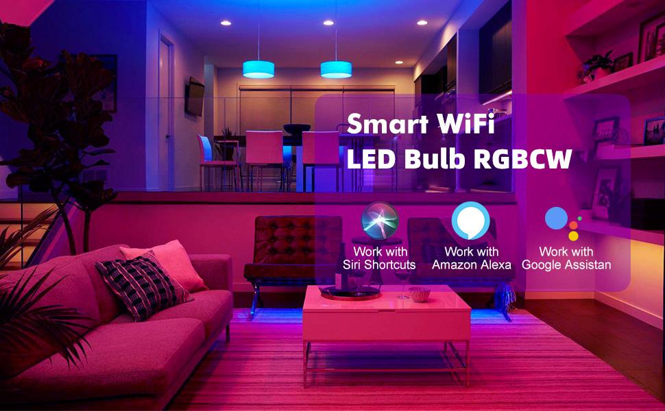 google home hub smart led bulb amazon light bulb Lightbulb smart home alexa devices for home