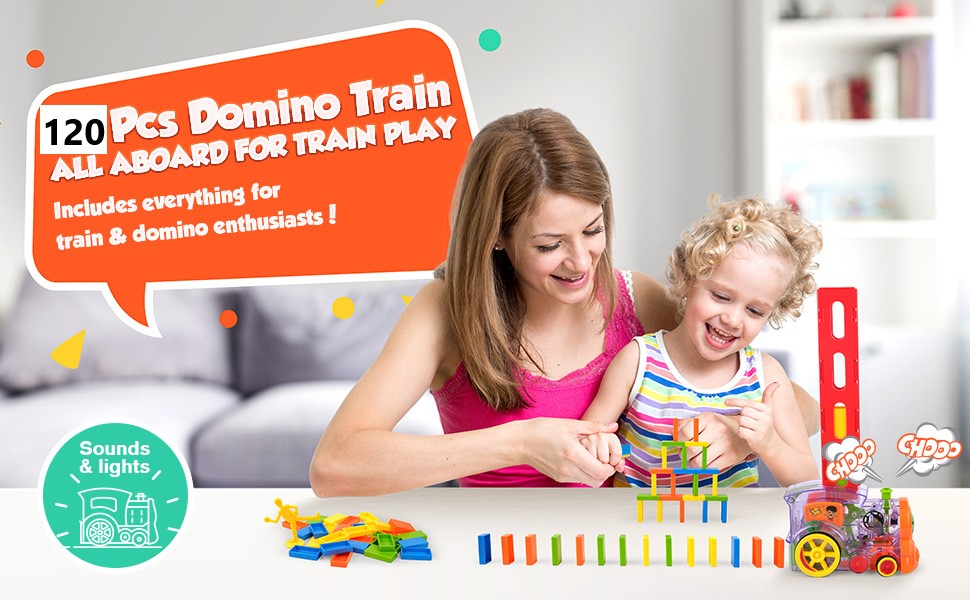 KIDS LEARNING TOY TRAIN DOMINO