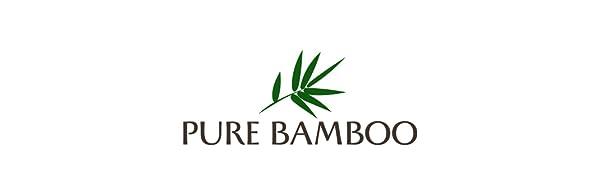 Pure Bamboo logo 100% organic bamboo bed sheets soft and cooling viscose