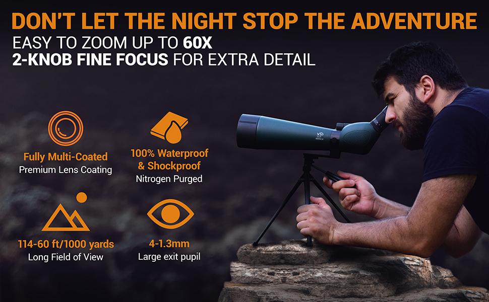 spotting scope for bird watching  digiscoping binocular eyepiece 90mm 80 bag binoculars rings combo