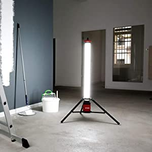 STIER LED Tower Baustrahler 360/° 6100 Lumen 72W Strahler Baustellenlampe Arbeitsleuchte Baulampe