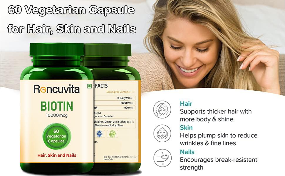 60 Vegetarian Capsule for Hair, Skin and Nails