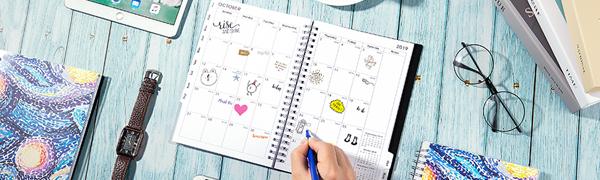 Agenda 19-20 - Planner Semanal y Mensual, 6.25