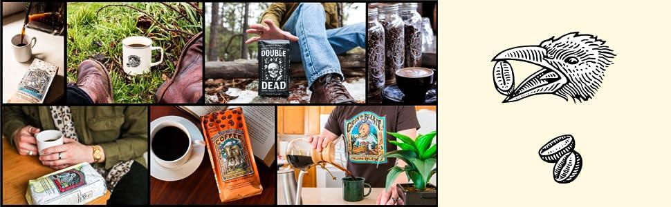 Raven's Brew Coffee - Resurrection Blend, Double Dead, Deadman's Reach, Three Peckered Billy Goat