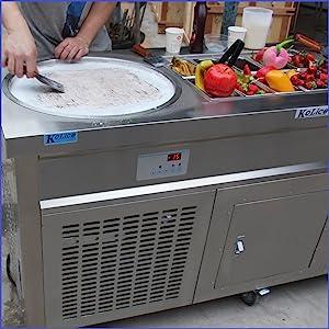 double pans fry ice cream roll machine
