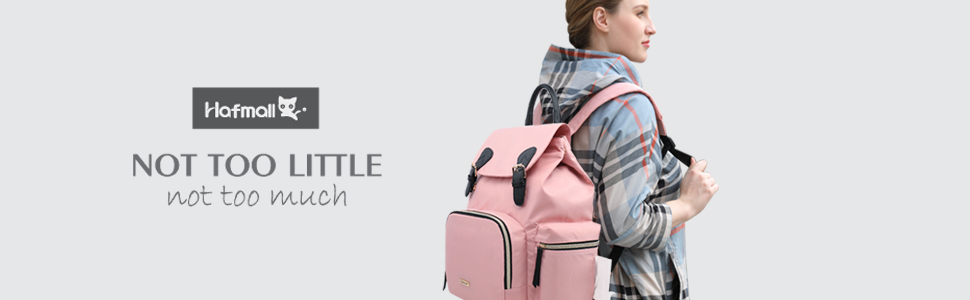 Hafmall Nappy Changing Backpack, Pink