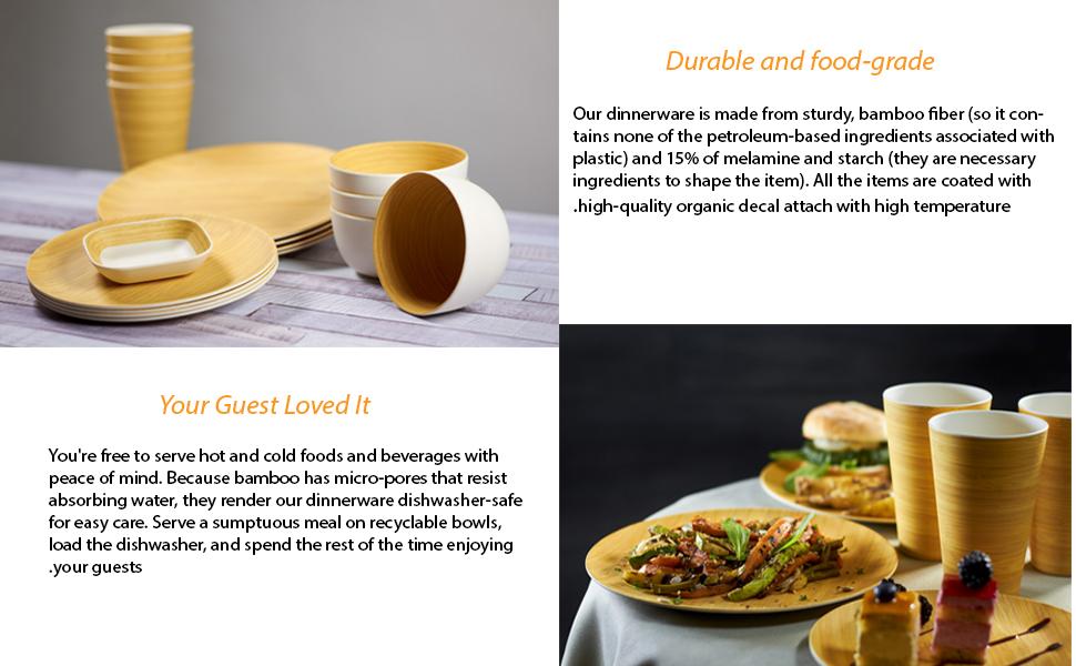 Bamboo dinner ware set