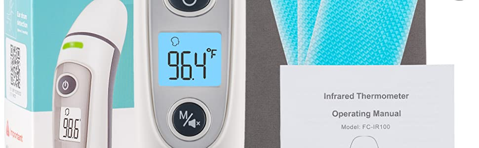 noblefans forehead and ear thermometer