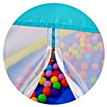 play tent with zipper