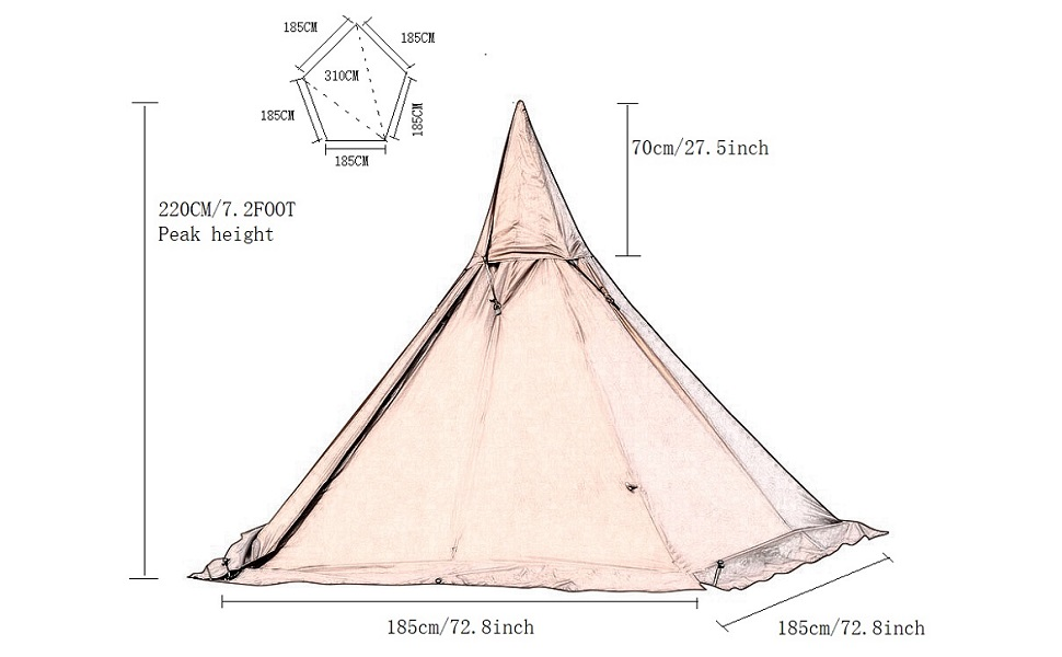 Five a pagoda tent