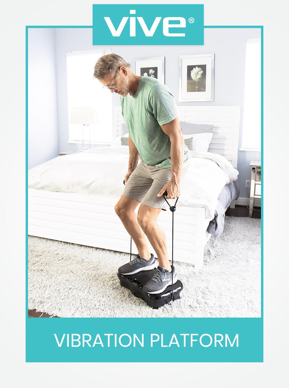 Power Plate - Vibration Platform Resistance Exercise Band - Vibrating Machine Shake Equipment Whole