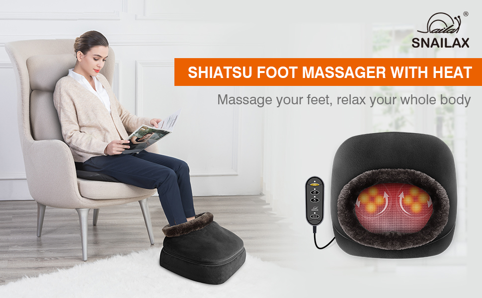 shiatsu foot massager feet massage foot warmer back massager heating pad