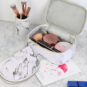 marble makeup bag for women cosmetic bag for trave