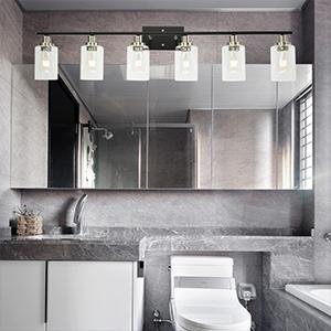 bathroom lights over mirror