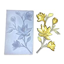 FineInno Moules en R/ésine en Forme de Fleur de Prunier 3D Plum Blossom Flower Resin Molds Moule en Silicone de Moulage DIY Bijoux de Pendentif