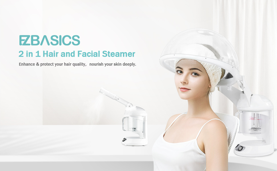 2 in 1 hair and facial steamer