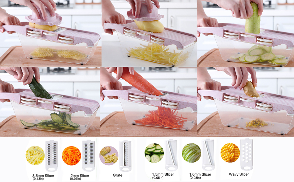 Vegetable Chopper Mandoline Slicer Dicer