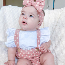 Newborn Baby Girls Ruffle Romper Jumpsuit Bodysuit Headband Summer Clothes Outifis