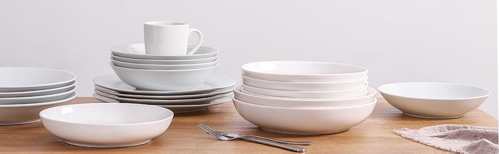 Amazon Com Y Yhy 26 Ounces Porcelain Pasta Salad Bowls