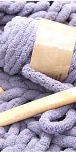 chunky chenille yarn for light blankets