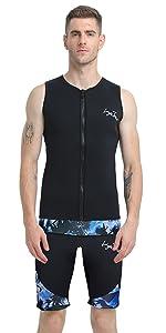 wetsuit vest tops women men neoprene tops surfing suits diving suit water sports sauna suit vest men