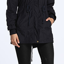 4How Womens Lightweight Hooded Water Resistant Coat