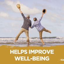HELPS IMPROVE WELL-BEING