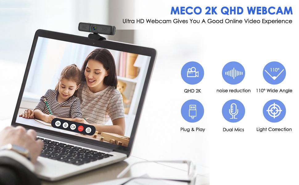 Webcam for PC, Web Computer Camera, Business Webcam,