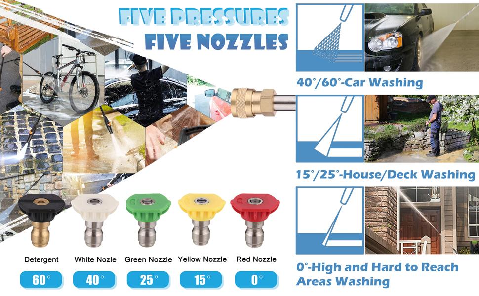 5 nozzles