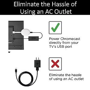 Mission USB Power for Chromecast