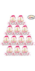 12Pcs Bolsa Mochilas Bolsas de cumpleañoscordón Dibujos Animados Mochila