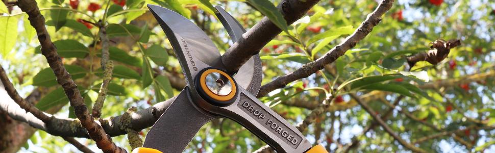 GRÜNTEK Cisaille Coupe-Branches X-25 Ébrancheur de 65 cm