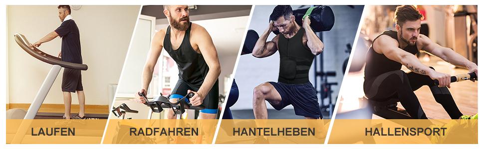 Neopren Sauna Gürtel Gewichtsverlust Bauchweg Body Shaper Sweat Taille Trimmer Weste