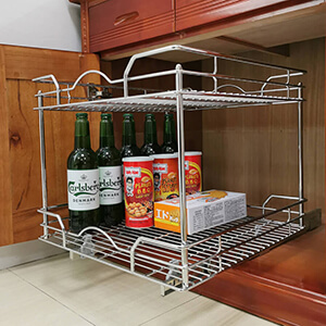 2 tier pull out cabinet organizer slide out cabinet organizer sliding kitchen cabinet shelves