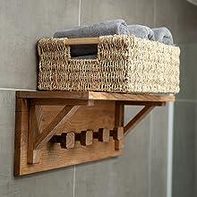 Large seagrass basket for closet organisation